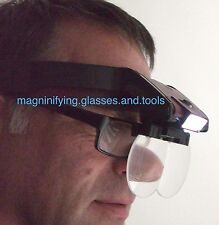 Head magnifying glass LED light magnifier hands free