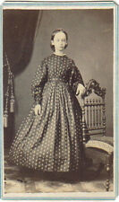1865 Carte De Visite, C D V of Belle Twining  Doylestown Pa. & Revenue Stamp