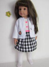 Bambole vestiti si adatta PIANTANA BAMBOLA 46-50cm 3 pezzi Estate Set