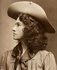 "Profile shot of Annie Oakley taken in New York early 1900's 8""x 10"" Photo 65"