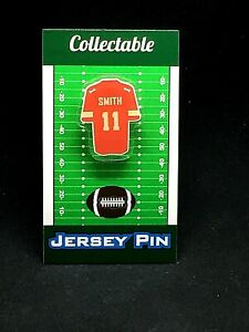 Kansas City Chiefs Alex Smith jersey lapel pin-Classic team Collectable
