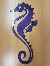 seahorse metal wall art plasma cut decor