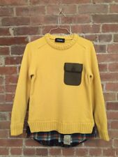 DSquared2 Ladies Sweater 100% Wool Size Large Yellow