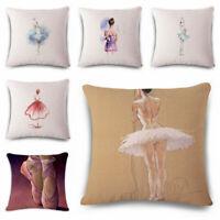 Dance Girl Linen Cotton Fashion Throw Pillow Case Cushion Cover Home Sofa Decor