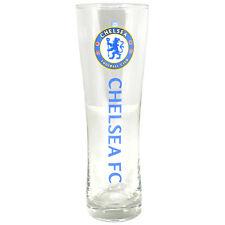 Chelsea FC Wordmark PERONI Tall Birra Pinta Calcio 24 cm nuovo regalo di Natale