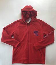Adidas Young Men New York Rangers NHL Full Zip Hoodie Sweatshirt - Red - Large