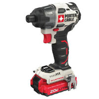 Porter-Cable 20V MAX 1/4 in. Impact Driver PCCK647LBR Certified Refurbished
