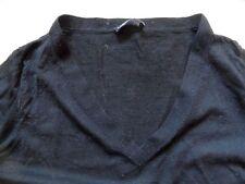 HEMISPHERE platinium collection leichter Wollpullover schwarz Gr. 40 TOP KoS817