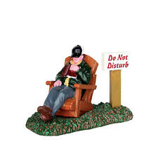 """LEMAX CHRISTMAS VILLAGE ACCESSORIES - """"AFTERNOON NAP"""" PEOPLE FIGURE #62457"""