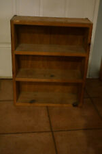 3 shelf solid wood box 20x17x6 hung solid back beautiful rustic country decor
