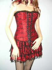 SALE PRICE!! Burlesque / Moulin Rouge Corset Tutu Dress Saloon Girl Size 10