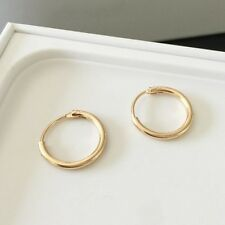 1Pair Women Mens Stainless Steel Gold/Silver Small Hoop Ear Circle Round Earring