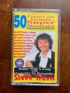 Steve Travis 50 Country + Favourite Super Songs Audio Cassette Tape