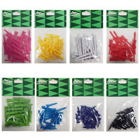 8 Packs - MD Golf Coloured Plastic Strong Tees 160 Short Long Length Graduated