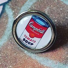 Unique Campbells zuppa di pomodoro pin badge Pop Art Designer Tie Andy Warhol Bavero