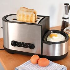 Toaster and Egg Cooker (Bread, Muffins, Bagels or Fried, Poached, Boiled Eggs)
