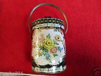VINTAGE MURRAY-ALLEN REGAL CROWN TIN WITH LID & HANDLE