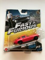 Fast & Furious CHEVY CORVETTE 1966 Red 30/32 Mattel 1:55 Scale FCN87