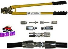 "Hydraulic Hose Line Field Repair Kit with 24"" Hose Cutter for Hyd Equipment"