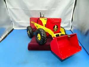 Vintage 50's Ny- Lint Pressed Steel Hough Pay Loader Yellow & Red