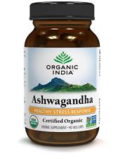 Ashwagandha,240 Veg-Capsules by ORGANIC INDIA for enhance vitality & vigour.