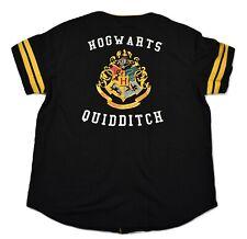 Harry Potter Mens Hogwarts Baseball Quidditch Button-Up Jersey New 2Xl