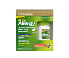 Good Sense All Day Allergy, Cetirizine HCl Tablets, 10 mg 30 ea
