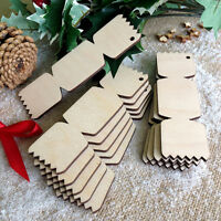 Christmas CRACKERS Wooden Birch Decoration Gift Tag Blank Wood Craft Shape x 10