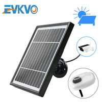 Solar Panel 3.3W 5.5V 3M Cable For Outdoor Security Rechargeable Powered IP WiFi