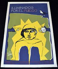 "Original Movie Poster""Iluminados por el fuego""Argentina.Tristan Bauer art film."