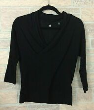 Anthropologie Knitted and Knottes Petite Black Top Sweater Size XS