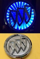 Waterproof 3D LED Car Logo Light Blue Auto Rear Emblems Lamp For Buick Excelle