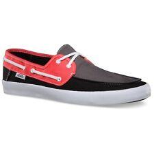 VANS Chauffeur (3 Tone) Gray/Coral/Black Surf Sider Boat Shoes MEN'S 8.5