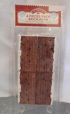 HOLIDAY TIME CHRISTMAS VILLAGE ACCESSORIES - 4 PIECE BRICK PATH WITH SNOW