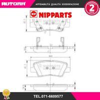 N3610311-G Kit pastiglie freno, Freno a disco (MARCA-NIPPARTS)