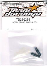RC Team Durango TD330399 Steel Front Axle DEX210 F v2 v3 1/10 Buggy 2WD 1pr NIB