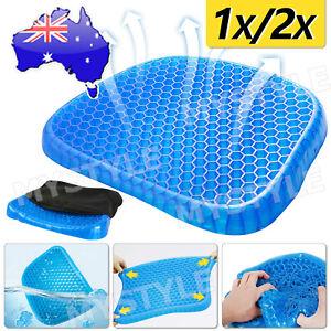 1/2PCS X Gel Honeycomb Seat Comfort Cushion Flex Back Support Spine Protector UM