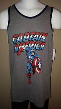 CAPTAIN AMERICA 75TH ANNIV GREY MOVIE SMALL SM MENS TANK TOP SHIRT NEW WITH TAGS