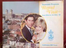 Princess Diana Royal Visit Newfoundland & Labrador 1983 Programme Canada Rare