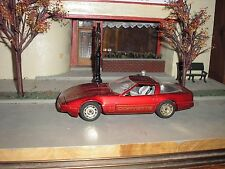 Very Nice 1/24 Vintage Diecast Majorette 1980's Chevy Corvette Metallic Dark Red