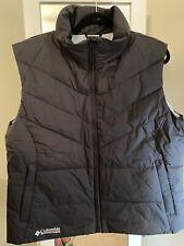 Womans Columbia Down Puffer powder blue Vest Size XL