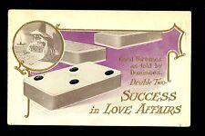Fortune Telling Dominoes Vintage Postcard Lounsbury 1907 Love Affairs Success
