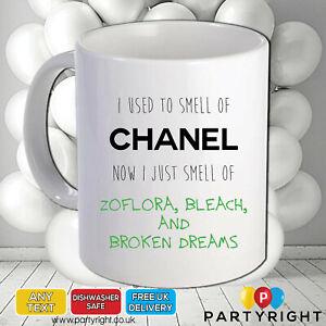Rude Adult Funny Joke Used To Smell Of Chanel 10oz Mug