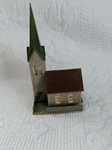 "Vintage Faller Germany Plastic Model Church 5"" tall"