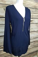 Michael Kors New Navy Swim Beach Pool Cover Up Tunic X Small NWT $113 C