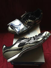 New Asics Mens Black/Onyx Hyper MD 4 size 10 Track & Field Spikes G101N9099-10