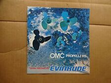 1973 Omc Evinrude Propellers sales brochure parts catalog