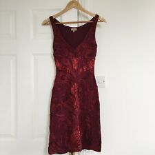 Hunza Body con Burgundy Dress Size S 8 10 stunning fitted wine red
