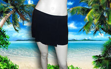 NWT PROFILE by GOTTEX BLACK SWIM SKIRT OVERLAP BOTTOM with BIKINI sz - 10