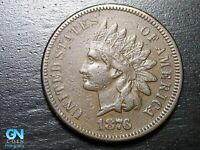 1876 Indian Head Cent Penny  --  MAKE US AN OFFER!  #B7429